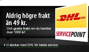 Vi skickar med DHL